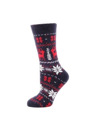 Panthzer  Casual Wool Socks Çorap Lacivert Lacivert
